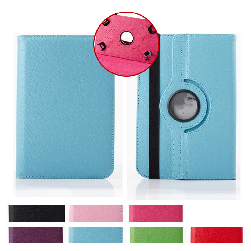 360 Rotating Solid PU Leather Stand Flip Folio For HP Slate 7 VoiceTab Ultra Tablet Case for 7 inch Universal Protective Cover