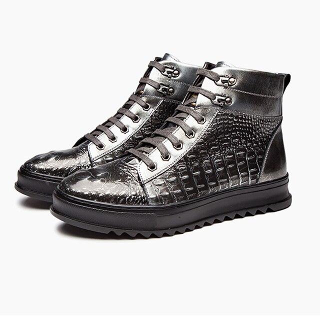 Çizmeler erkekler hakiki deri rahat yüksek kaliteli marka rahat erkek botları # MXZ810846