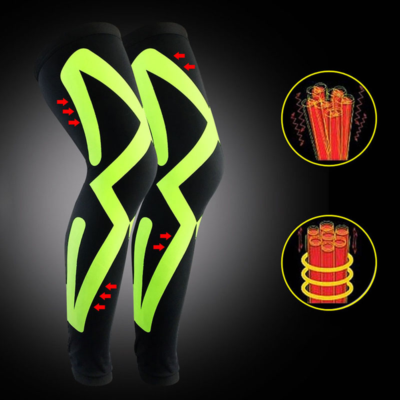 Breathable Long Knee Sleeve Compression Legwarmers Football Volleyball Running Knee Supports Sports Protectors Pads