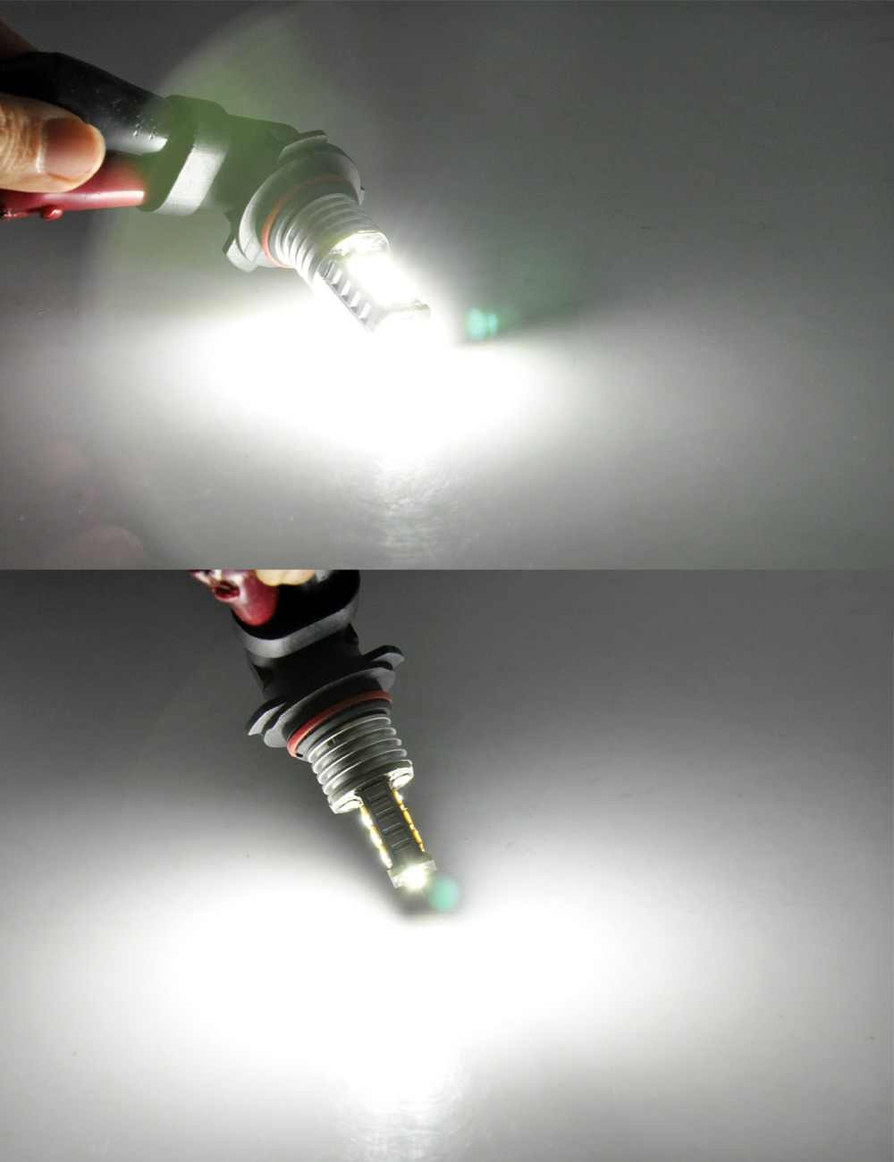 AutoEC 2pcs 9006 hb4 15SMD 2835 LED Bulbs Fog Lights Daytime Running Light Auto Car Head Lamp #LI21
