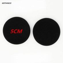 KEITHNICO 100 шт 5 см мягкие поролоновые амбушюры колпачок для наушников-вкладышей Замена для гарнитуры наушники MP3 MP4 черный цвет