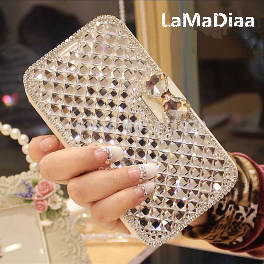 LaMaDiaa Luxus Bling Strass Diamant Telefon Fall für <font><b>iPhone</b></font> 11 Pro Max XR X 5 5s 6 <font><b>6s</b></font> plus 7 8 plus Brieftasche Leder <font><b>Flip</b></font>-<font><b>Cover</b></font> image