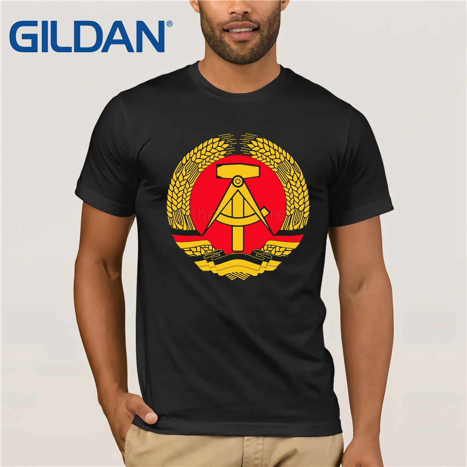 East Germany Ddr   T     Shirt   Customize Unique   T  -  Shirt   For Men Spring The New Hilarious Tshirt 3xl Top Tee