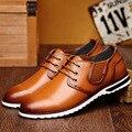Летний Новый Шаблон Человек Досуг Натуральная Кожа Сандалии Англия Выдалбливают Мужской Обуви Тенденция Вентиляции Сандалии Одной Обуви