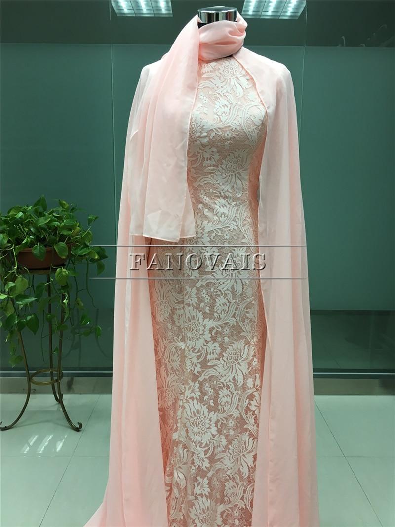 Real Photo Elegant Dubai Muslim Aftonklänningar Lång Ärmar Lace - Särskilda tillfällen klänningar - Foto 4