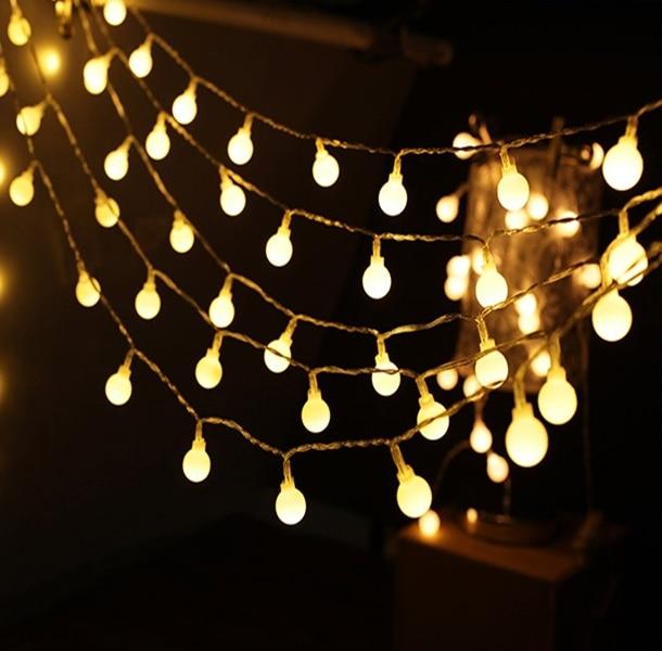 Globe Ball Battery Led string light 2M/3M/4M/5M/10M/20M Christmas holiday Wedding party garland decoration fairy light lamp