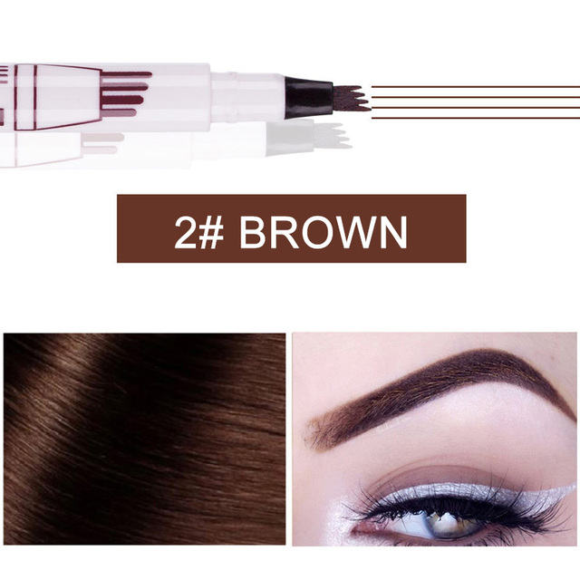Microblading Tattoo Eyebrow Ink Pen Fork Tip Sketch Enhancer Waterproof Eye Brow Makeup Pencil Hot Mdf 5