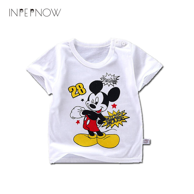 INPEPNOW 2018 Kids T Shirts For Boys Children Baby Girls Mickey Tshirt Summer Tops Tees Clothes T-shirts For Boys Shirt -CZX008