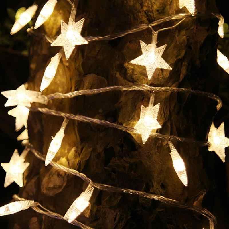 Звезда Шторы светодиодный Строка Фея Света открытый водонепроницаемые Свадебные Рождество Сад лампы настенные украшения