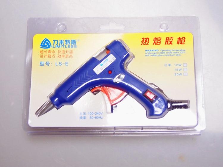 20W Hot Melt Glue Gun Industrial Mini Guns Thermo Electric Gluegun EU Plug Heat Temperature Tool Graft Repair