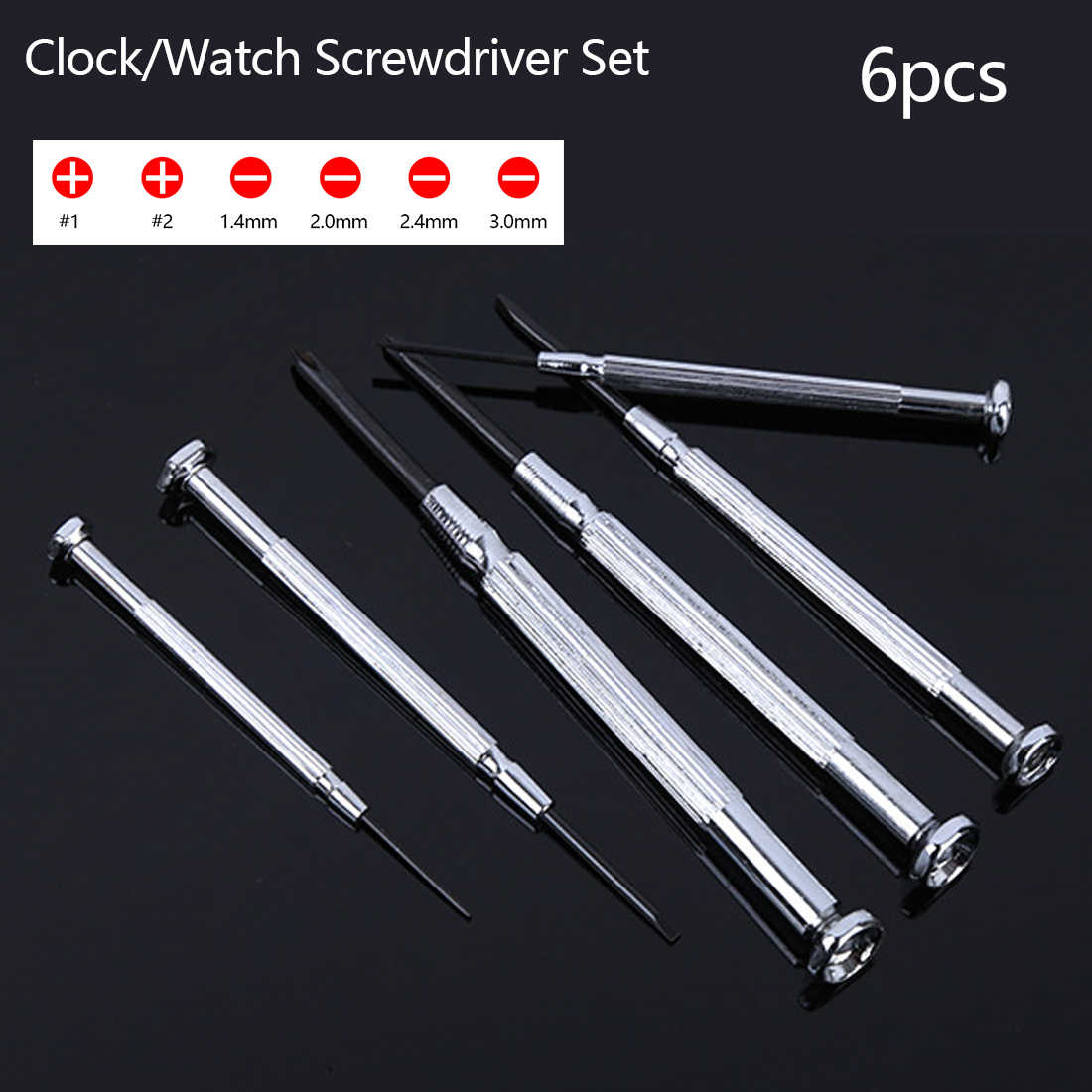 Multifunction Mini Small Screwdriver Set 6pcs Precision Screw driver  with Slotted Phillips Bits for Watch Glasses Repair Tools