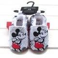 2016 Nova Princesa Sapatos de Bebê Unisex Infantil Criança Suave Sole Bebe Algodão Primeiros Sapatos Caminhantes da Menina Bonito do Urso de Crianças Prewalker