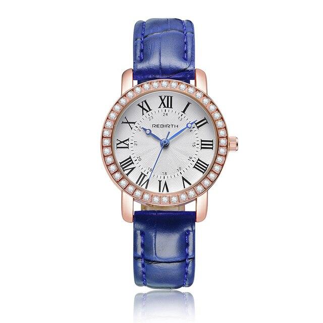 Top vente femmes montres à Quartz mode diamant bracelet en cuir dames montres à cadran romain classique Relogio Feminino créatif