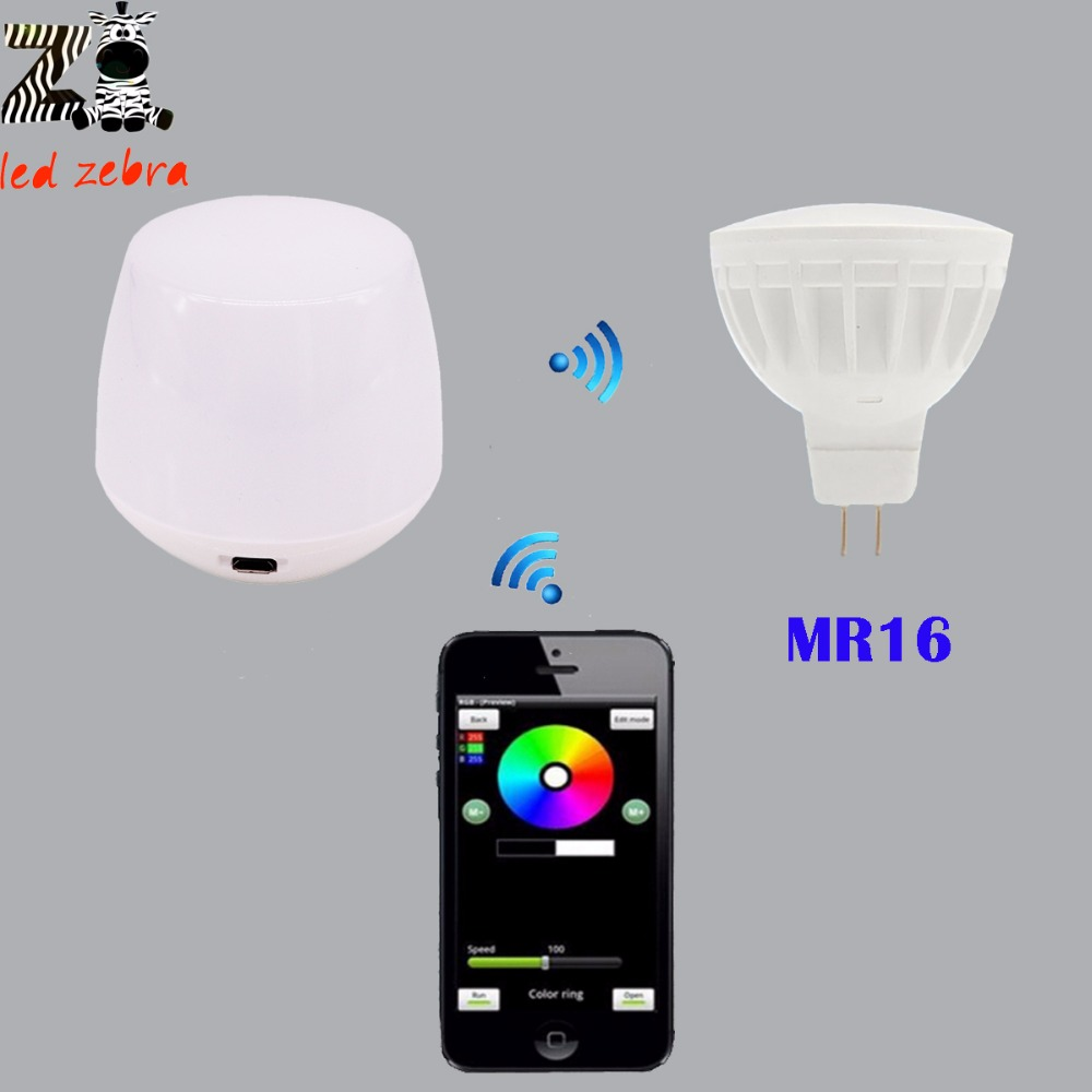 mi.light 2.4g MR16 4w led bulb rgbww rf professional smart led spotlight,wireless wifi controller for led bulb AC/DC12V mr beams светильник mr beams spotlight led на батареях с сенсорами корпус белый
