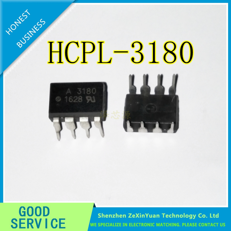 10PCS/LOT  HCPL-3180 HCPL3180 MARKING A3180 3180 DIP8 IN STOCK AVAGO IC