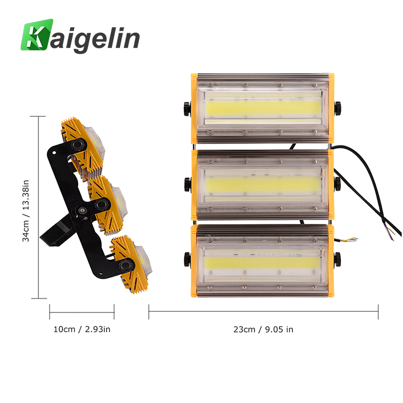 2 PCS Kiagelin 150W COB LED Flood Light 12000LM IP65 Waterproof LED Floodlight Outdoor Lighting LED Spotlight Garden Wall Lamp ultrathin led flood light 200w ac85 265v waterproof ip65 floodlight spotlight outdoor lighting free shipping