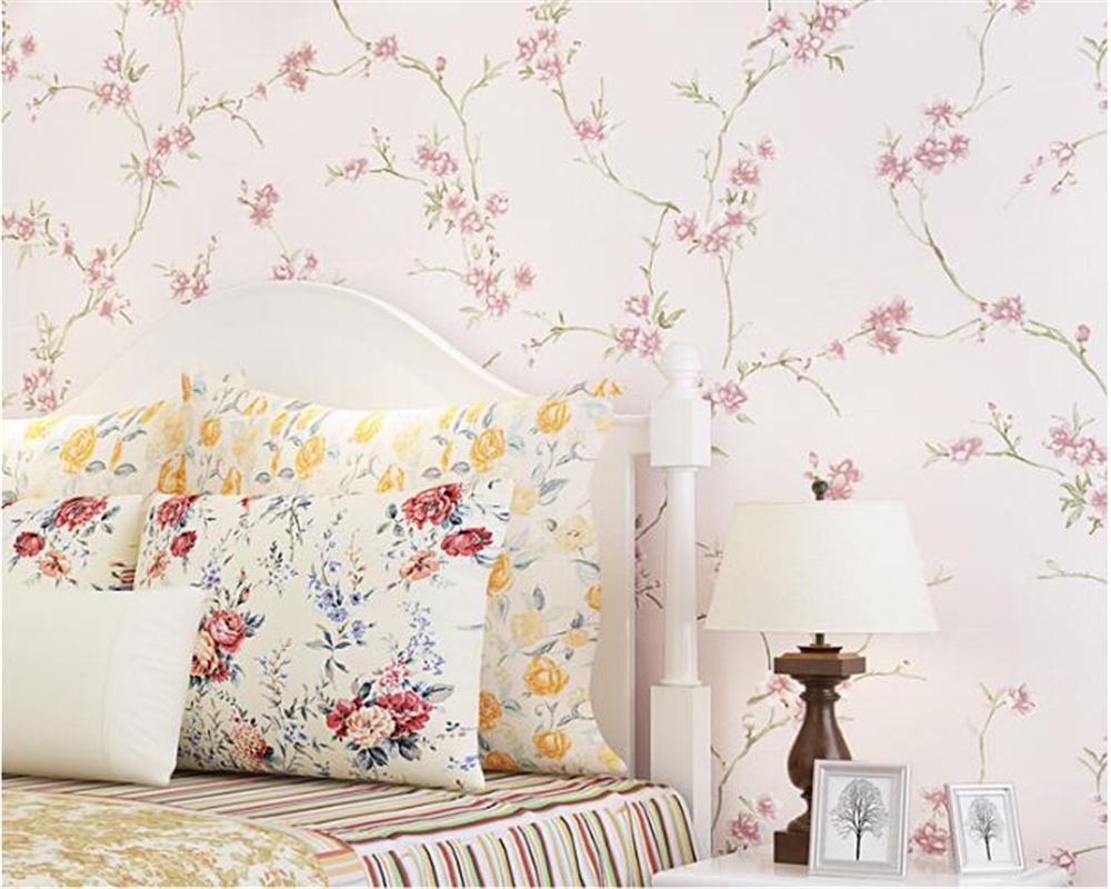 beibehang Pastoral small fresh nonwoven 3d wallpaper warm romantic girl bedroom princess room stereo relief wall paper tapety beibehang european wall paper tv backdrop nonwoven fabric 3d wallpaper bedroom three dimensional relief big flower type tapety