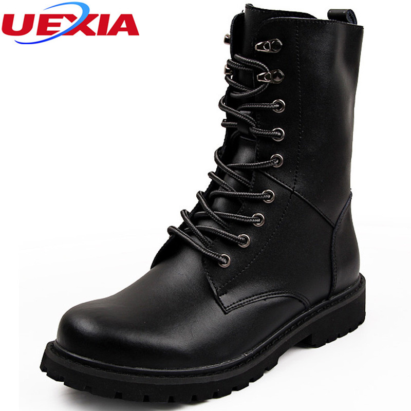 Winter Warmth Plush Fur Martin Boots Men Lace Up Tactical Combat Men Shoes Desert Outdoor Work