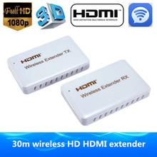 Wi-fi transmission HDMI Extender as much as 30M Help HDMI 1.four HDCP 1.four 3D 1080P wi-fi HDMI  transmitter receiver with HDTV