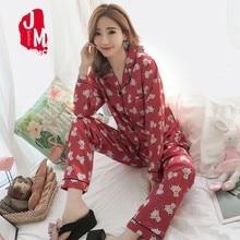 Pyjamas Set Satin Summer Pijamas Women Silk Plus Size Print Pajamas Suit Long Sleeves Sleepwear Sleep M L XL XXL