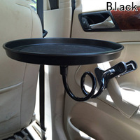Onever Universal Car Food Drink Cup Tray Round Table Rotating Car Mount Tray Tablet Clamp Holder