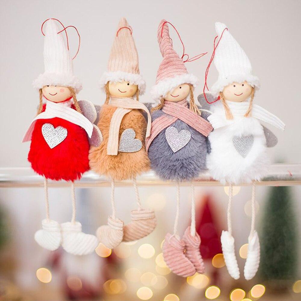 Cute Cartoon Angel Plush Doll Christmas Decoration Pendant ...