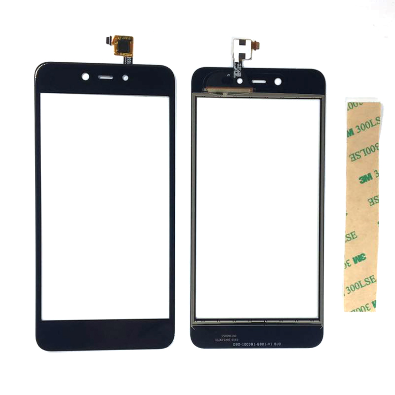 Touch Screen For BQ 5211 STRIKE (2018) 5.2inch Front Glass Digitizer Panel Sensor Lens Replacement With 3m Sticker Black Color