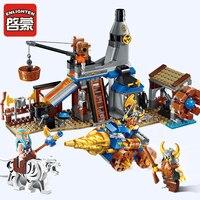 להאיר 2314 אבן בניין טירת אבירי חנות נפחי 3 דמויות מלחמת של תהילה 368 יחידות לבנים חינוכיים ילד צעצוע מתנה