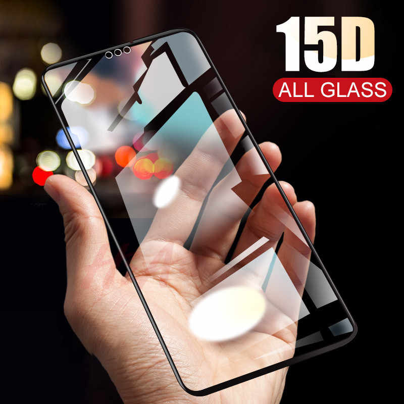 H&A 15D Full Cover Protective Glass For Huawei 8X 10 9 Lite Tempered Glass For Huawei Honor 10 9 8X Screen Protector Glass Film