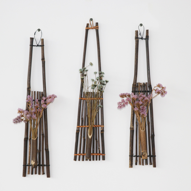 Bamboo hanging vase for flowers pots stands Wedding decoration Home ...