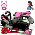 Hot New Game D.Va Dva Cosplay Props Accessories Cosplay Gun Weapon OW