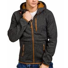 ZOGAA Men Casual Hoodies Jackets Long Sleeve Zipper Hooded Sweatshirt Jacket Hip Hop Sportswear Hoodie 2019 New