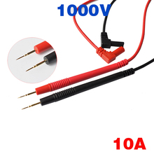Multimeter Pen 1 Pair 1000V 10A Needle Tip Probe Silica Gel Pens And Gold-plated Copper For Universal Digital Leads Pin