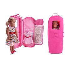 Doll Accessories Born New Baby Fit 18 inch America Pink Blue Red Purple Handbags For Girls and Boys Birthday Gift