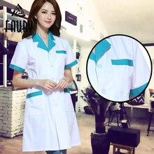 Wanita Jahit Warna Jahitan Permaidani Perkhidmatan Jururawat Pakaian Seragam Perubatan Kain White Lab Coats Hospital Doctor Clothes