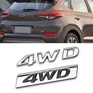 Наклейка на заднюю часть для Hyundai 4WD ix25 ix35 ix45 i30 i20 Accent Santa Fe Tucson Elantra Solaris, Creta Tail, металлическое украшение автомобиля
