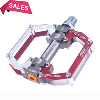 2018 Bicycle Foot Pedal Mtb Aluminium Alloy Bearings Pedals Fixed Gear Ultralight 404g Cycling 9/16 BMX Mountain Bike Footrest