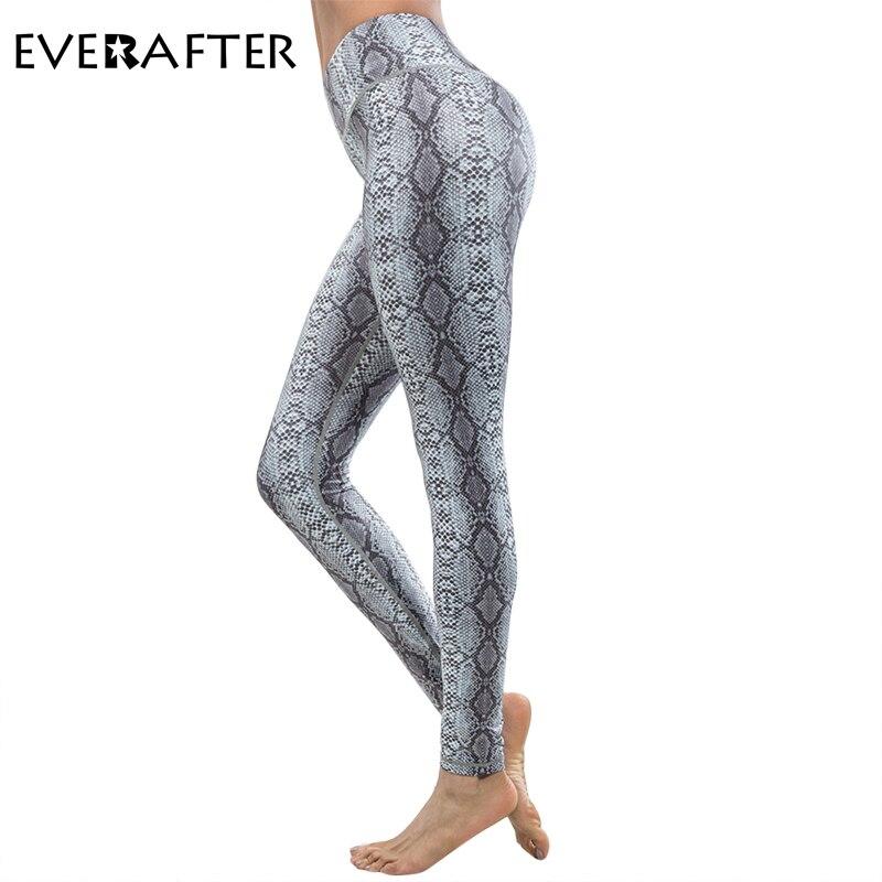 EVERAFTER Casual push up leggings women sportswear slim leopard print fitness Elasticity Leggins Workout female Pants leggings