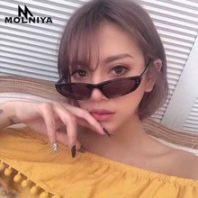 MOLNIYA 2019 Fashion Classic Men Triangle Sunglasses Retro Women Siamese Transparent Small Frame Sun Glasses Eyewear UV400