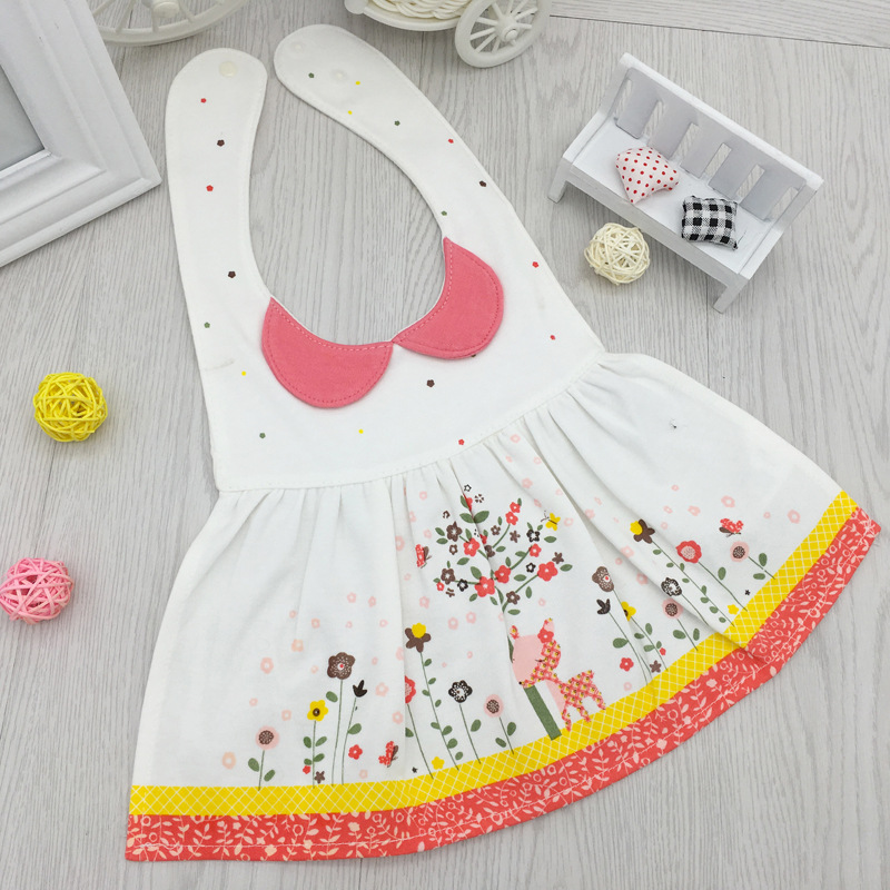 lovely flower Colorful Baby Bibs adjustable Strap Children Bib Burp Clothes Soft Feeding Eat Toddle Waterproof