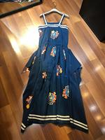 2019 new ladies fashion sling silk printed dress 0516