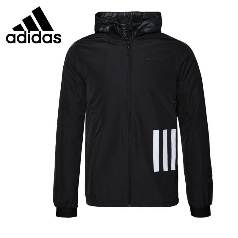 Nova Chegada Original 2018 Adidas NEO Label Algodão-acolchoado jaqueta Com Capuz Sportswear dos homens