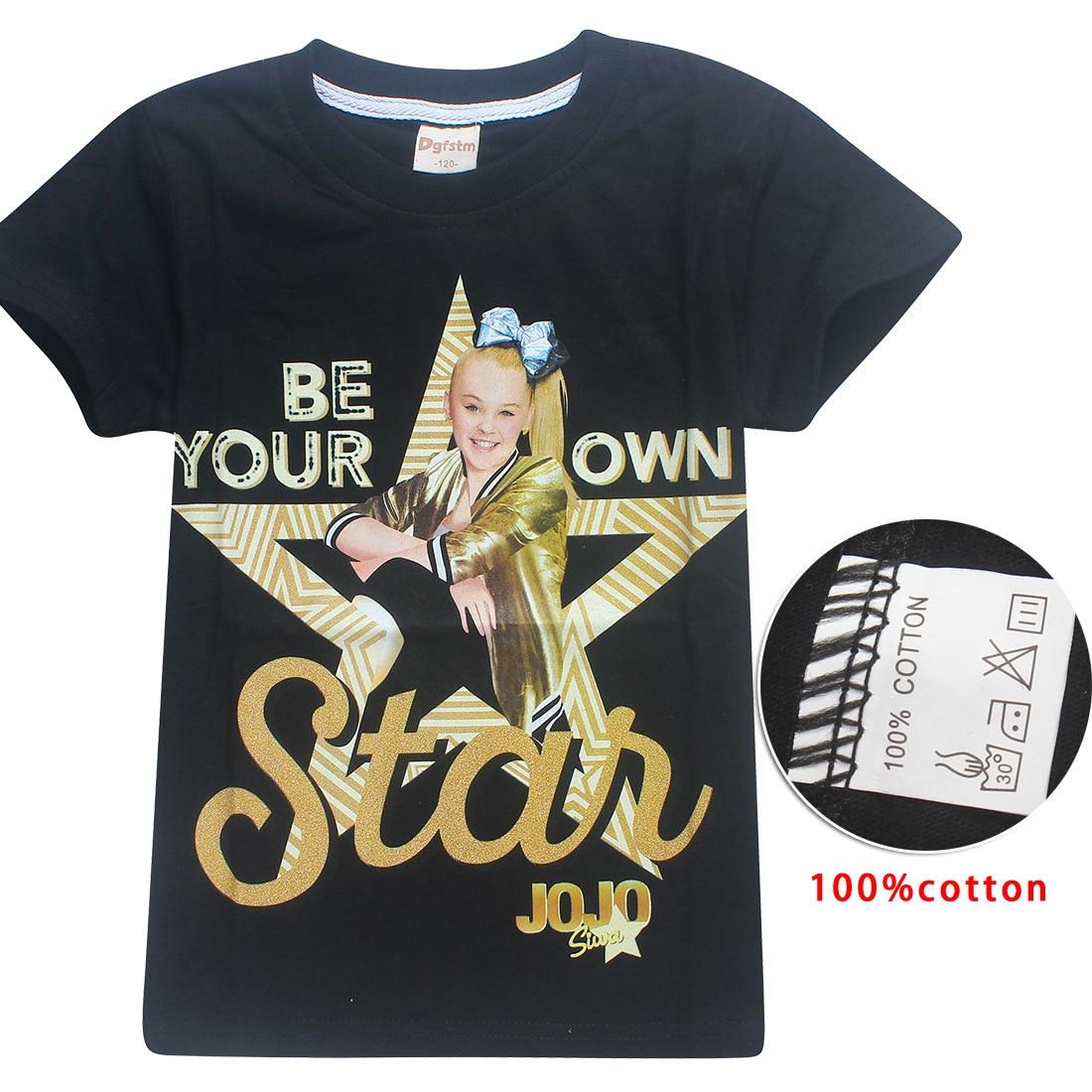 JOJO SIWA 100% Cotton T Shirts for Kids 2018 Summer Baby Girls Tops Tees + Hair  Bows Toddler Moana Trolls Kids Clothes 6-14y 47c1224949df
