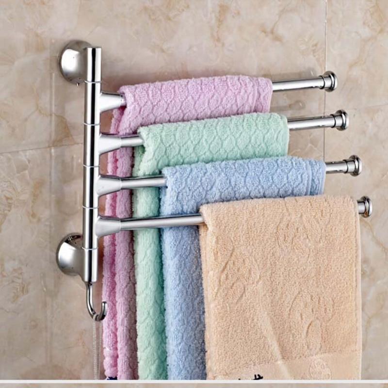 Swivel Towel Bars Wall Mounted Stainless Steel Towel Bars Hangers Four Towels bars шорты