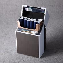 2-in-1 New Cigarette Case Box Lighter for Smoking Flameless Aluminum Alloy USB