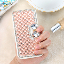Get more info on the KISSCASE For iPhone 7 7 Plus Case Bling Diamond Rhinestone Phone Cases For iPhone 7 6 6S Plus 5 5S SE Crystal Flip Leather Cover