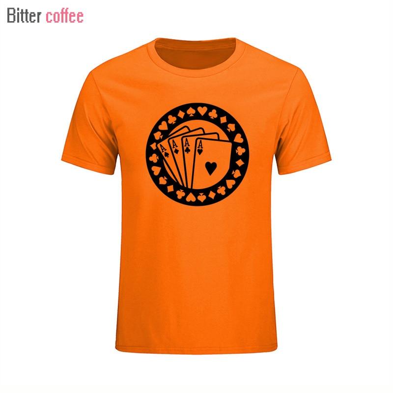 916d847c4c 2018 NOVO Verão de Poker Aces Skrillex T Camisas de Manga Curta de Algodão  T Shirt Dos Homens Da Forma Dos Homens de Hip Hop T-shirt XS-XXL