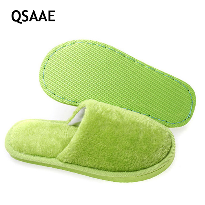 2017 Lovers Slippers Men Solid Soft Warm Indoor Slippers Women Pantufa Flock Home Shoes Floor Slippers Soft Buttom Shoes AWM06 men winter soft slippers plush male home shoes indoor man warm slippers shoes