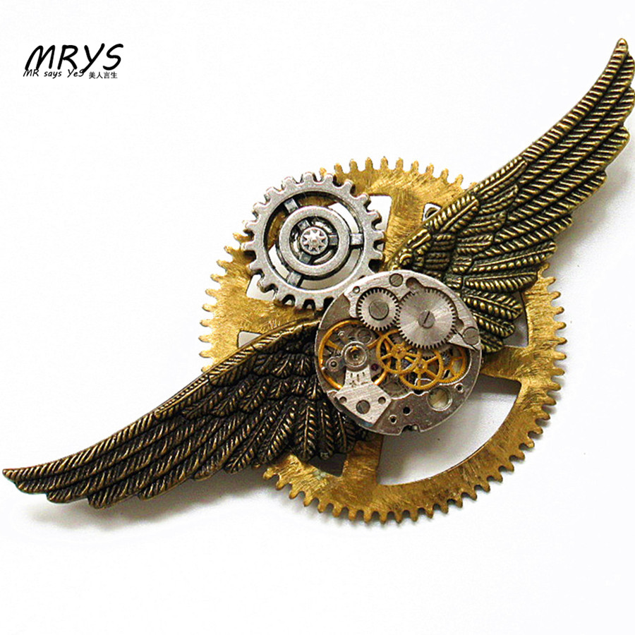 font b steampunk b font gothic punk rock hip hop wings clock font b watch