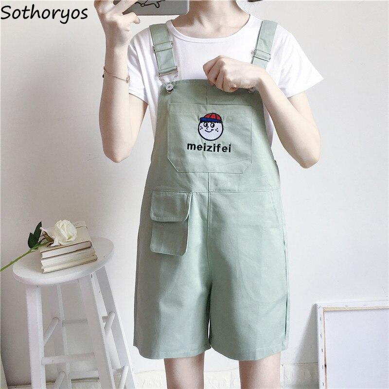 Rompers Women Ulzzang Streetwear Kawaii Soft Cartoon Printed All-match Harajuku Summer Korean Style Girls Loose Womens Trousers